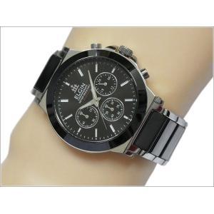 エルジン ELGIN 腕時計 クロノグラフ FK1417C-B ブラック メタルベルト ippin