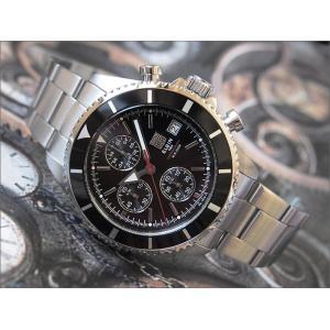 エルジン ELGIN 腕時計 クロノグラフ FK1418S-B ブラック メタルベルト|ippin
