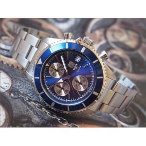 エルジン ELGIN 腕時計 クロノグラフ FK1418S-BL ブルー メタルベルト|ippin
