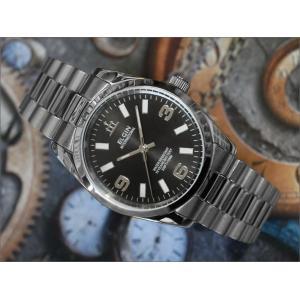 エルジン ELGIN 腕時計 3針クォーツ FK1421S-B ブラック メタルベルト|ippin