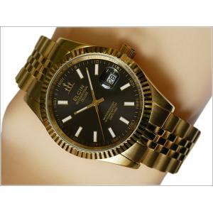 エルジン ELGIN 腕時計 3針クォーツ FK1422G-B ブラック メタルベルト|ippin