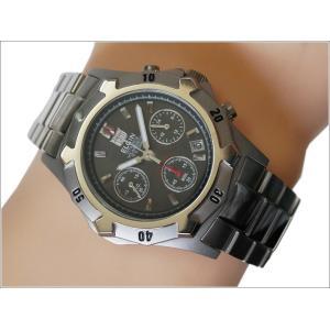 エルジン ELGIN 腕時計 クォーツ ソーラークロノ FK1425TI-B ブラック メタルベルト|ippin