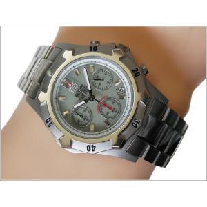 エルジン ELGIN 腕時計 クォーツ ソーラークロノ FK1425TI-BR 蓄光 メタルベルト|ippin