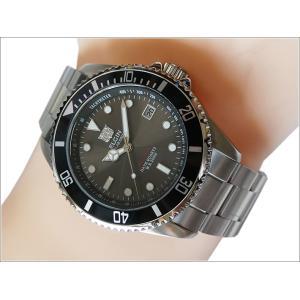 エルジン ELGIN 腕時計 ソーラー ダイバー FK1426S-B ブラック メタルベルト|ippin
