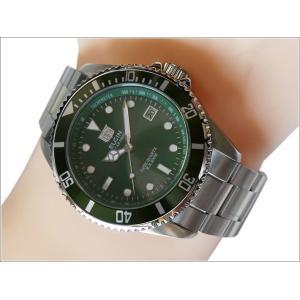 エルジン ELGIN 腕時計 ソーラー ダイバー FK1426S-GR グリーン メタルベルト|ippin