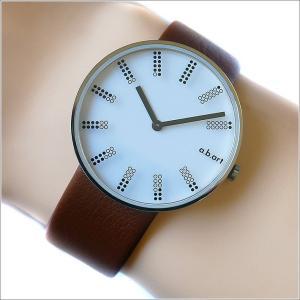 エービーアート a.b.art 腕時計 SERIES DL DL-401BR ホワイト文字盤 39mm ブラウン カーフレザーベルト クォーツ ippin