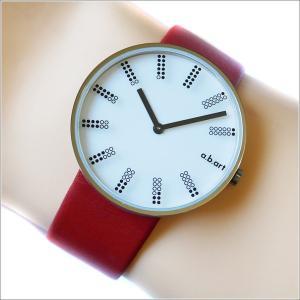 エービーアート a.b.art 腕時計 SERIES DL DL-401RE ホワイト文字盤 39mm レッド カーフレザーベルト クォーツ ippin