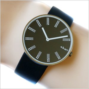 エービーアート a.b.art 腕時計 SERIES DL DL-402 ブラック文字盤 39mm ブラック カーフレザーベルト クォーツ ippin