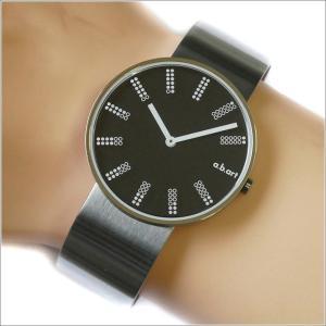 エービーアート a.b.art 腕時計 SERIES DL DL-402 ブラック文字盤 39mm シルバー メタルベルト クォーツ ippin