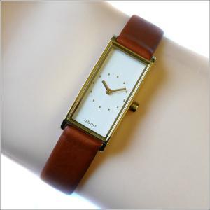 エービーアート a.b.art 腕時計 SERIES I I-520BR シルバー文字盤 29×15mm ブラウン カーフレザーベルト クォーツ ippin