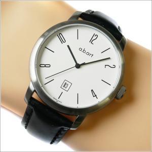 エービーアート a.b.art 腕時計 SERIES MA MA-101 ホワイト文字盤 44mm ブラック カーフレザーベルト 機械式自動巻 ippin