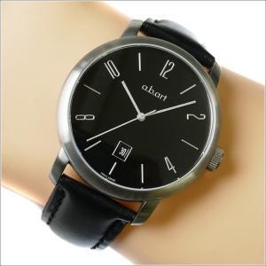 エービーアート a.b.art 腕時計 SERIES MA MA-102 ブラック文字盤 44mm ブラック カーフレザーベルト 機械式自動巻 ippin