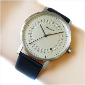 エービーアート a.b.art 腕時計 SERIES O O-101 シルバー文字盤 41mm ブラック カーフレザーベルト クォーツ ippin