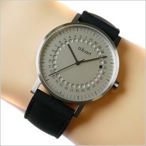 エービーアート a.b.art 腕時計 SERIES O O-101 シルバー文字盤 41mm ブラック ラバーベルト クォーツ ippin