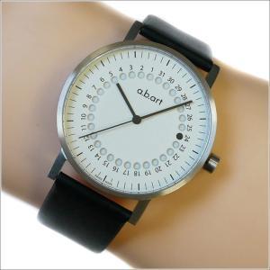 エービーアート a.b.art 腕時計 SERIES O O-101(W) ホワイト文字盤 41mm ブラック カーフレザーベルト クォーツ ippin