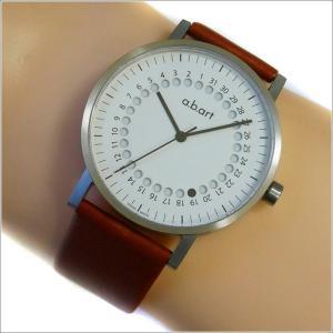 エービーアート a.b.art 腕時計 SERIES O O-101(W)BR ホワイト文字盤 41mm ブラウン カーフレザーベルト クォーツ ippin