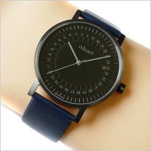 エービーアート a.b.art 腕時計 SERIES O O-O202BL ブラック文字盤 41mm ネイビー カーフレザーベルト クォーツ ippin