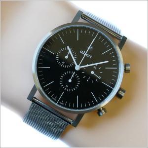 エービーアート a.b.art 腕時計 SERIES OC OC-103 ブラック文字盤 41mm シルバー メッシュメタルベルト クォーツ ippin