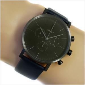 エービーアート a.b.art 腕時計 SERIES OC OC-202BL ブラック文字盤 41mm ネイビーブルー レザーベルト クォーツ ippin
