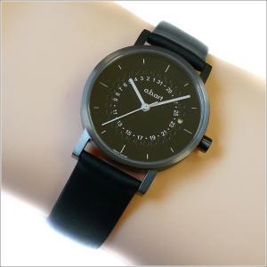 エービーアート a.b.art 腕時計 SERIES OS OS-201 ブラック文字盤 32mm ブラック カーフレザーベルト クォーツ ippin