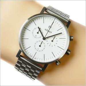 エービーアート a.b.art 腕時計 SERIES OC OC-101メタル ホワイト文字盤 41mm シルバー ステンレス クォーツ|ippin