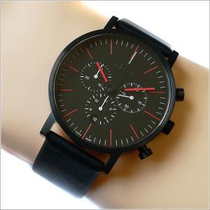 エービーアート a.b.art 腕時計 SERIES OC OC-150 ブラック文字盤 41mm ブラック カーフレザー クォーツ|ippin