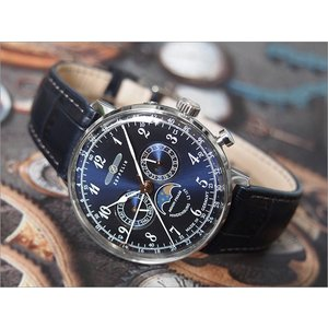 ツェッペリン ZEPPELIN 腕時計 7036-3 ヒンデンブルク クォーツ 40mm レザーベルト|ippin