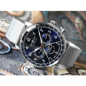 ツェッペリン ZEPPELIN 腕時計 7036M-3 ヒンデンブルク クォーツ 40mm メタルベルト|ippin