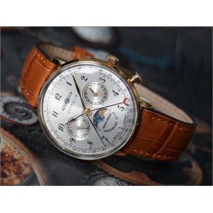 ツェッペリン ZEPPELIN 腕時計 7039-1 ヒンデンブルク クォーツ 36mm レザーベルト|ippin