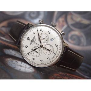 ツェッペリン ZEPPELIN 腕時計 7086-4 ヒンデンブルク クォーツ 40MM レザーベルト|ippin