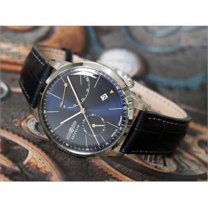ツェッペリン ZEPPELIN 腕時計 7366-3 フラットライン 自動巻 40MM レザーベルト|ippin