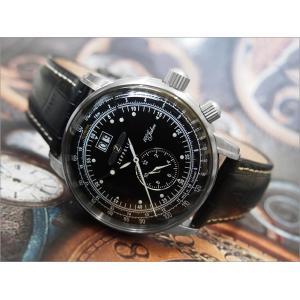 ツェッペリン ZEPPELIN 腕時計 7640-2 100周年記念 クォーツ 42MM レザーベルト|ippin