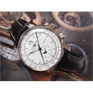 ツェッペリン ZEPPELIN 腕時計 7640-4 100周年記念 クォーツ 42MM レザーベルト|ippin