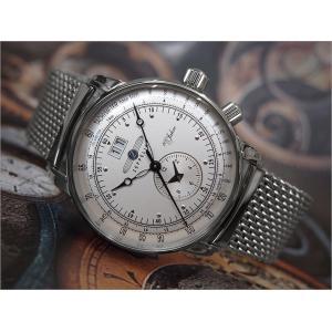 ツェッペリン ZEPPELIN 腕時計 7640M-1 100周年記念 クォーツ 42mm メタルベルト|ippin