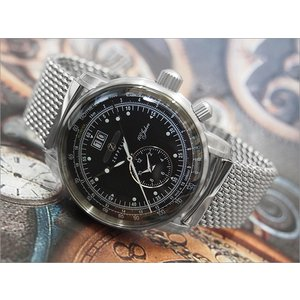 ツェッペリン ZEPPELIN 腕時計 7640M-2 100周年記念 クォーツ 42MM メタルベルト|ippin