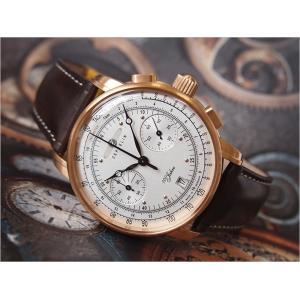 ツェッペリン ZEPPELIN 腕時計 7672-1 100周年記念 クォーツ 42mm レザーベルト|ippin