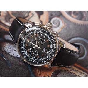 ツェッペリン ZEPPELIN 腕時計 7674-2 100周年記念 クォーツ 42MM レザーベルト|ippin