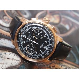 ツェッペリン ZEPPELIN 腕時計 7676-2 100周年記念 クォーツ 42MM レザーベルト|ippin