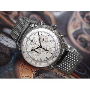 ツェッペリン ZEPPELIN 腕時計 7680M-1 100周年記念 クォーツ 42mm メタルベルト|ippin