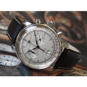 ツェッペリン ZEPPELIN 腕時計 7690-1 100周年記念 クォーツ 42MM レザーベルト|ippin