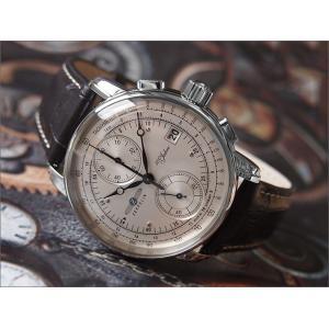 ツェッペリン ZEPPELIN 腕時計 8670-1 100周年記念 クォーツ 42mm レザーベルト|ippin