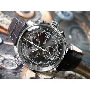 ツェッペリン ZEPPELIN 腕時計 8670-2 100周年記念 クォーツ 42mm レザーベルト|ippin