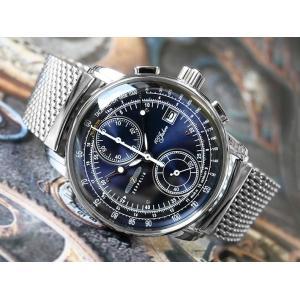ツェッペリン ZEPPELIN 腕時計 8670M-3 100周年記念 クォーツ 42mm メタルベルト|ippin