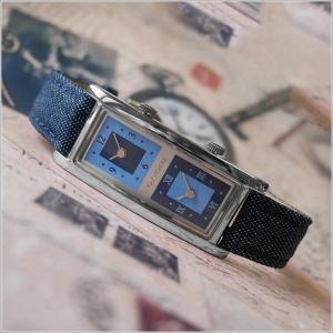 オキシゲン OXYGEN 腕時計 デュアルタイム 20009L-DT-NV レザーベルト アウトレット品|ippin