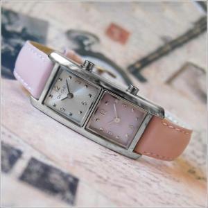 オキシゲン OXYGEN 腕時計 デュアルタイム 20009L-DT-PK レザーベルト アウトレット品|ippin
