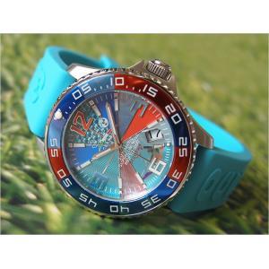 トレアッカ イタリア 3H ITALIA 腕時計 44M1.ACQUA メンズ ラバーベルト 替ベルト付き|ippin
