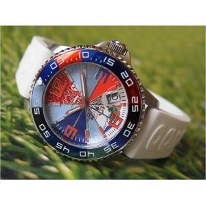 トレアッカ イタリア 3H ITALIA 腕時計 44M1.INDACO メンズ ラバーベルト 替ベルト付き|ippin