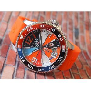 トレアッカ イタリア 3H ITALIA 腕時計 M1.ARANCIO メンズ ラバーベルト 替ベルト付き|ippin