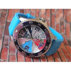 トレアッカ イタリア 3H ITALIA 腕時計 M1.AZZURRO メンズ ラバーベルト 替ベルト付き|ippin