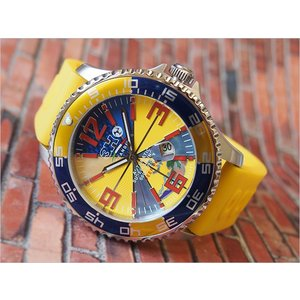 トレアッカ イタリア 3H ITALIA 腕時計 M1.GIALLO メンズ ラバーベルト 替ベルト付き|ippin